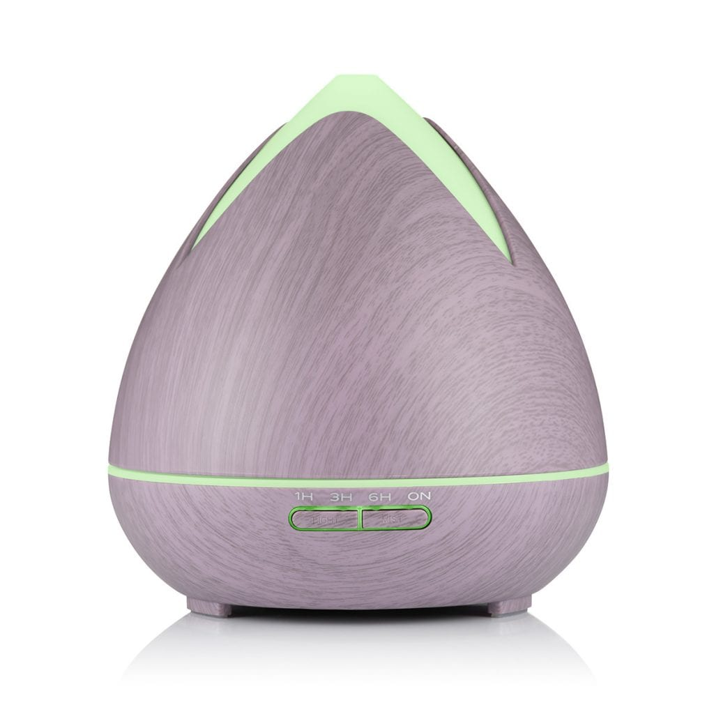 Photograph of an aroma diffuser on a white background, showing packshot product photography.