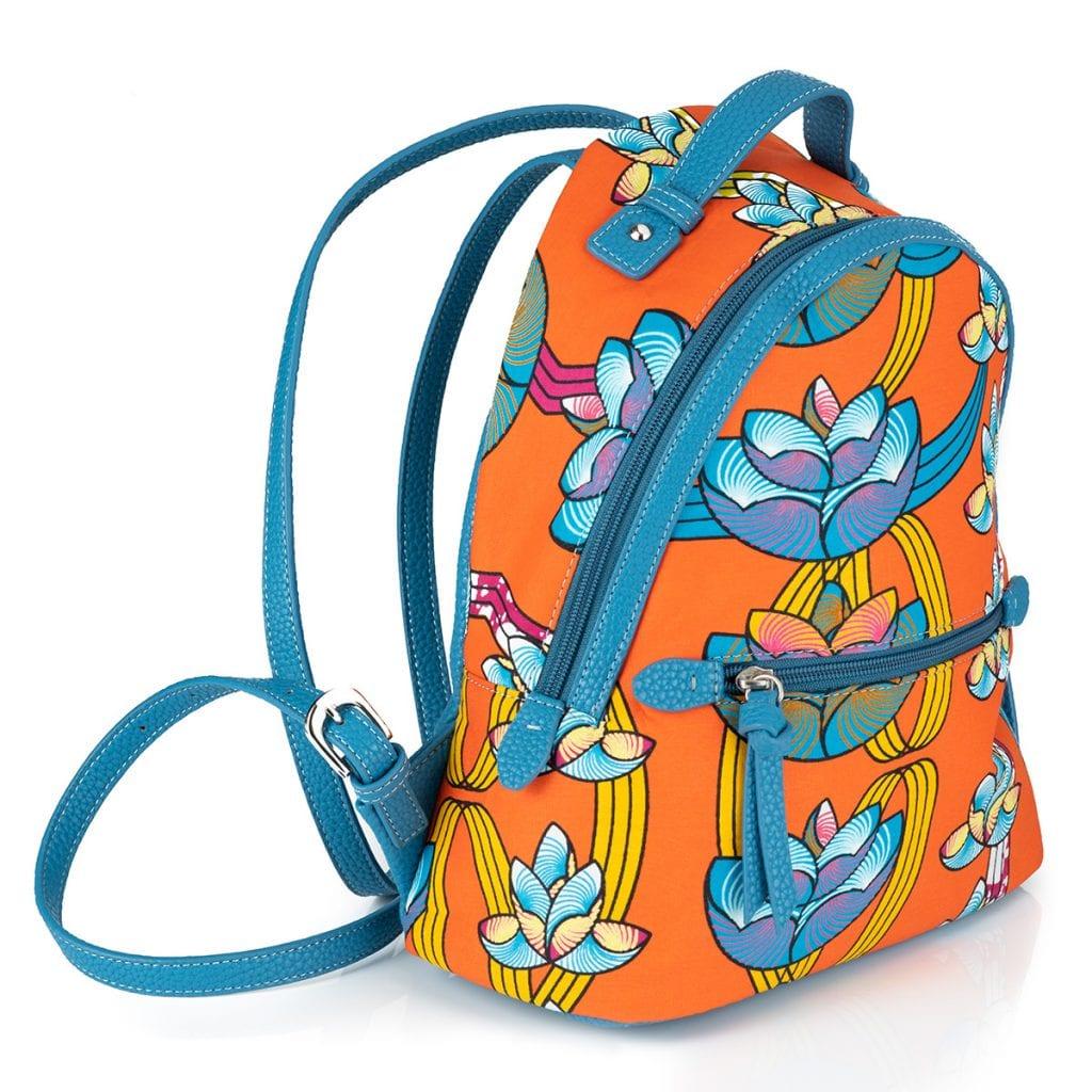Packshot product photography showcasing a bold Quiven orange bag.